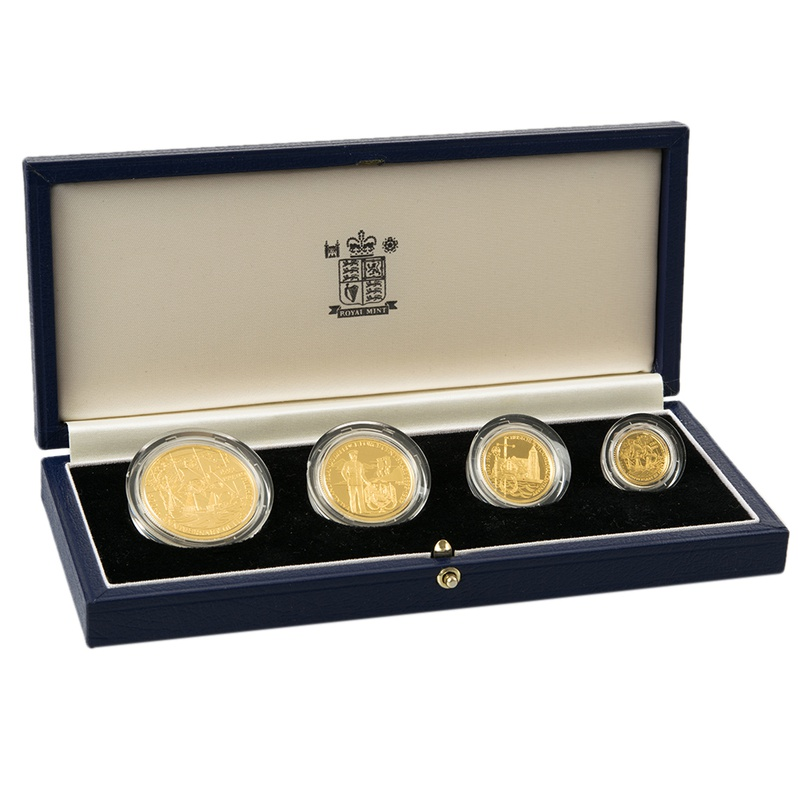 1992 Falkland Islands Heritage Year 4-Coin Gold Proof Set Boxed