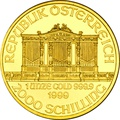 1999 1oz Austrian Gold Philharmonic Coin