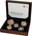 2012 Gold Proof Sovereign Five Coin Set Boxed