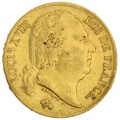 1818 20 French Francs - Louis XVIII Bare Head - W