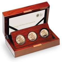 2016 Gold Proof Sovereign Three Coin Premium Set - Butler effigy Boxed