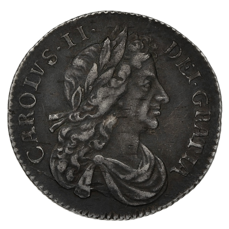 1683 Charles II Silver Sixpence