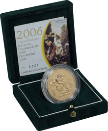 2006 - Gold £5 Brilliant Uncirculated Coin Boxed