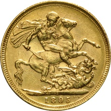 1895 Gold Sovereign - Victoria Old Head - S