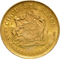 Chilean 50 Pesos Gold Coin 1926-1973