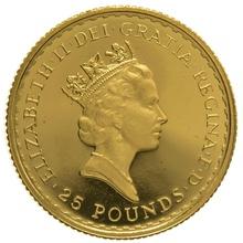 1996 Quarter Ounce Proof Britannia Gold Coin