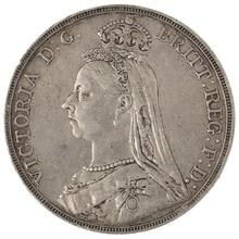 1888 Victoria Jubilee Head Crown - Very Fine