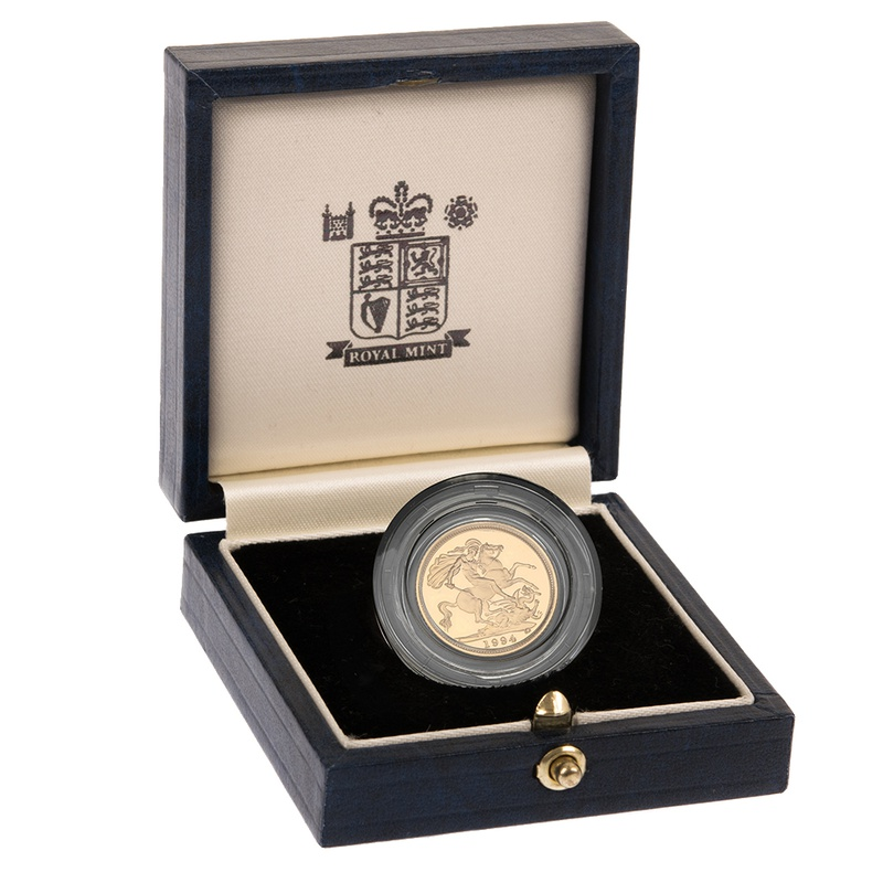 Gold Proof 1994 Half Sovereign Boxed
