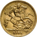 1911 Gold Half Sovereign - King George V - S