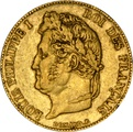 20 French Francs - Louis-Philippe Laureate Head