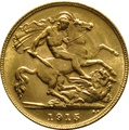 1915 Gold Half Sovereign - King George V - M