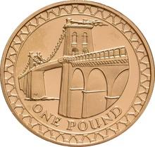 £1 One Pound Proof Gold Coin - Bridges -2005 Menai