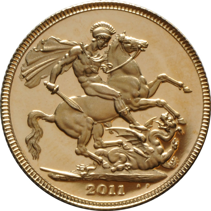 2011 Gold Sovereign - Elizabeth II Fourth Head Proof