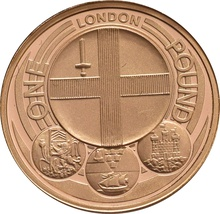 £1 One Pound Proof Gold Coin - Capital Cities -2010 London