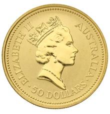 1990 Half Ounce Gold Australian Nugget