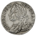1758 George II Silver Shilling