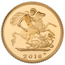 Gold Proof 2016 Half Sovereign Boxed