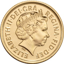 Sovereign - Elizabeth II, Fourth Head Gift Boxed