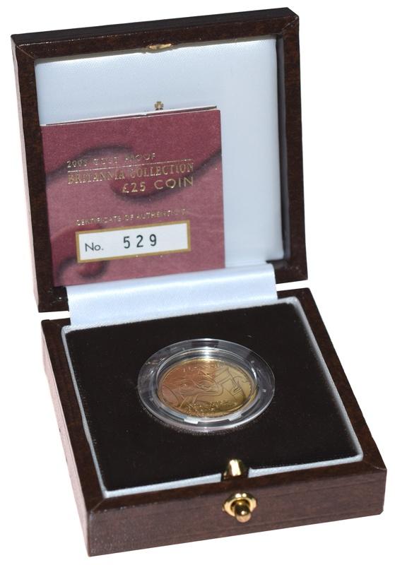 2003 Britannia Quarter Ounce Gold Proof Coin Boxed