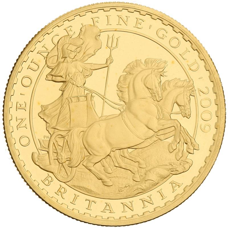 2009 One Ounce Proof Britannia Gold Coin