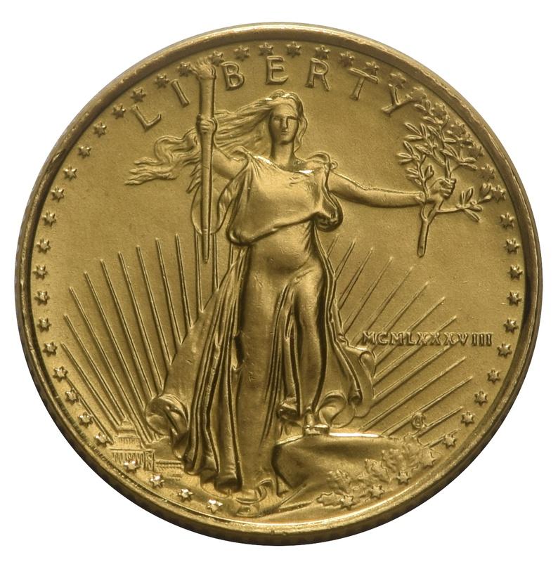 1988 Tenth Ounce Eagle Gold Coin MCMLXXXVIII