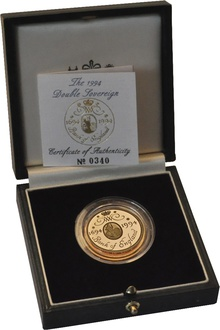 1994 £2 Two Pound Proof Gold Coin: Bank of England Boxed
