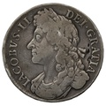 "1686 James II silver Crown ""SECVNDO"""