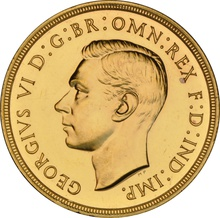 1937 Proof £2 Double Sovereign George VI NGC PF63