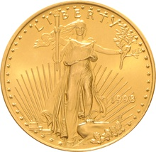 1998 Half Ounce Eagle Gold Coin