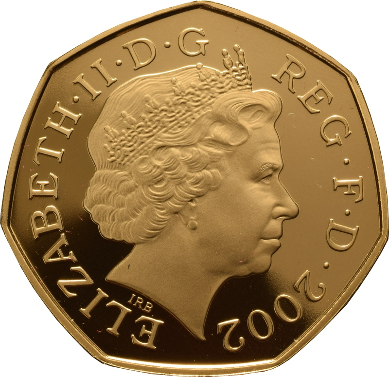 Gold Proof Fifty Pence Piece (small)