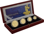 2001 Proof Britannia Gold 4-Coin Set Boxed