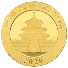 2020 30g Gold Chinese Panda Coin