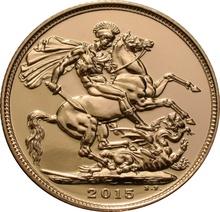 2015 Gold Sovereign Elizabeth II Fourth Head