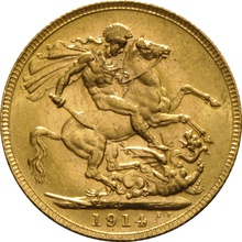 1914 Gold Sovereign - King George V - P