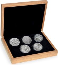 2018 1oz Silver Five Coin Set Gift Boxed