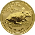 1oz Gold Australian Lunar Year of the Ox 2009