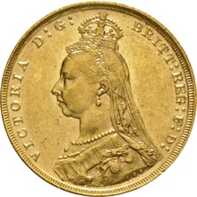 1891 Gold Sovereign - Victoria Jubilee Head - London
