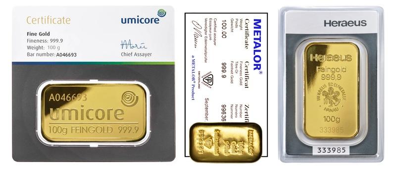 100g Gold Bars Best Value (Brand New)