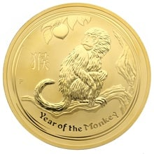 2016 10oz Perth Mint Year of the Monkey Lunar Gold Coin