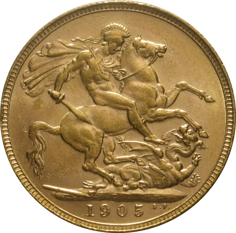 1905 Gold Sovereign - King Edward VII - P