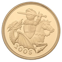 2005 £2 Two Pound Proof Gold Coin (Double Sovereign)