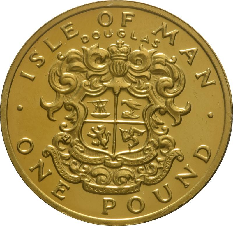 1986 Gold Proof £1 One Pound Manx Town Series - Douglas