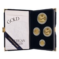 2003 Proof Gold Eagle 4-Coin Set Boxed