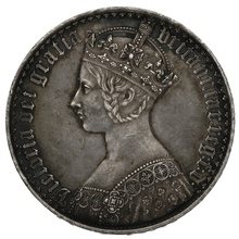 """1847 Queen Victoria """"Gothic"""" Crown UNDECIMO - Almost Extremely Fine"""