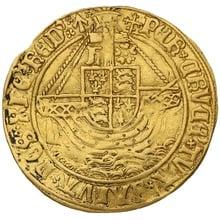 1504-5 Henry VII Hammered Gold Angel mm Cross-crosslet.
