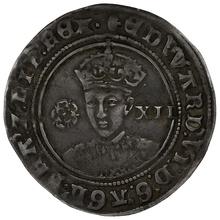1551-3 Edward VI silver Shilling mm Tun