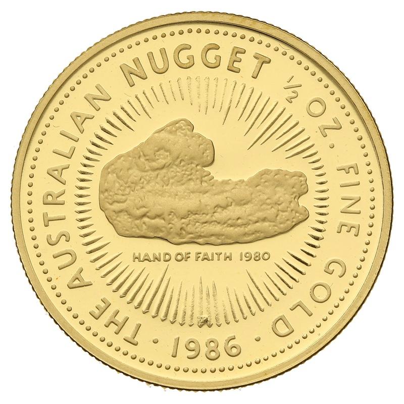 1986 Proof Half Ounce Gold Australian Nugget