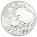 2021 1 Kilo Australian Lunar Year of the Ox Silver Coin