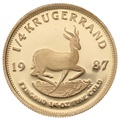 1987 Proof Quarter Ounce Gold Krugerrand