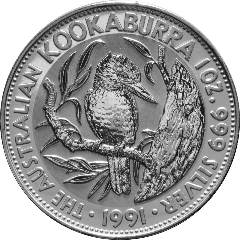 1991 1oz Silver Kookaburra